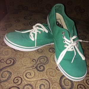 Vans, men's 7, Womans 8 1/2, green